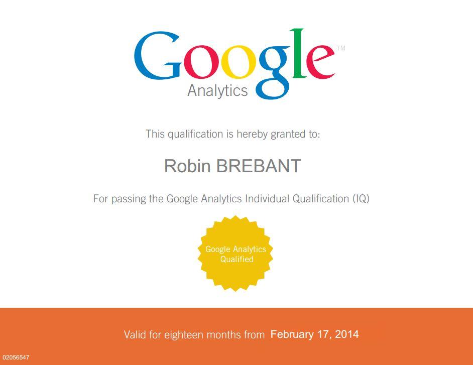 diplome google analytics