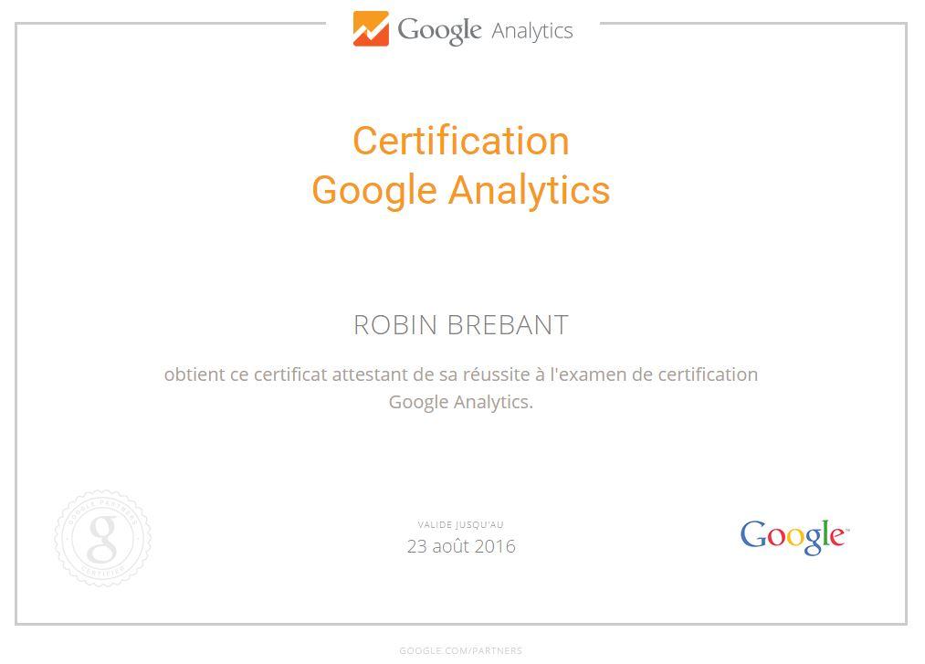 Nouvelle certification Google Analytics GAIQ
