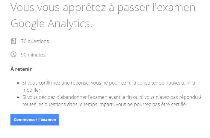 Présentation examen Google Analytics