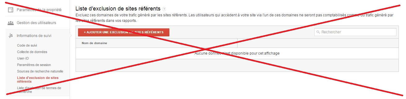 Spam referrer : ne pas utiliser l'exclusion des sites référents Google Analytics !