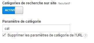 Activer les catégories de recherche sur site - Google Analytics